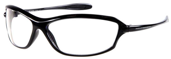 Harley-Davidson Men's Sun Kickstart Sunglasses BLK Frame/Clear Lens HDV003BLK-22 - Wisconsin Harley-Davidson