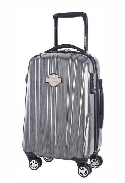 Harley-Davidson 21 Inch Carry-On, Light Weight Wheeled, Steel Gray 99922-STL/GRY - Wisconsin Harley-Davidson