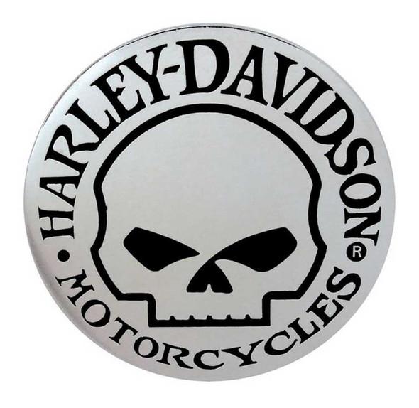Harley-Davidson Skull Hubcap Pin Silver 1 1/4'' W x 1 1/4'' H  P1029062 - Wisconsin Harley-Davidson
