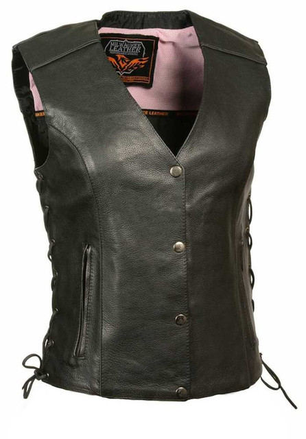 Milwaukee Leather Women's Vest w/ Stud & Wings Detailing ML1293 (2XS) - Wisconsin Harley-Davidson