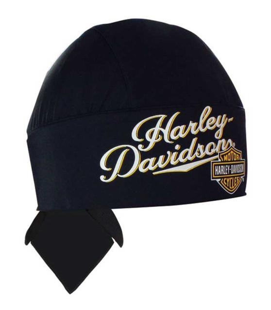 Harley-Davidson Women's H-D Inspired Script Head Wrap, Black HW00730 - Wisconsin Harley-Davidson