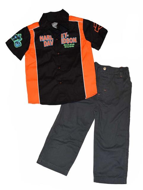 Harley-Davidson Baby Boys' 2-Piece Pant Set, H-D Shirt & Pants Set 3362382 - Wisconsin Harley-Davidson