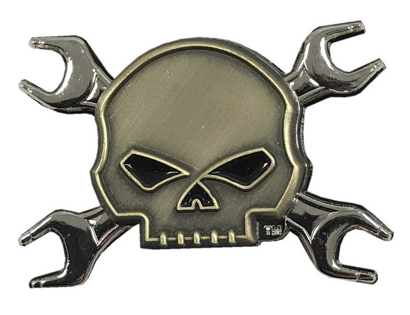 Harley-Davidson Willie G Skull Wrench Crossbones Logo Pin, 1.75 x 1.25 in 181125 - Wisconsin Harley-Davidson