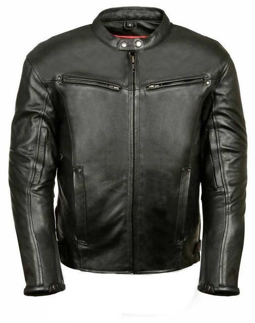 Leather King Men's Fashion Forward Vented Scooter Jacket SH2001 - Wisconsin Harley-Davidson