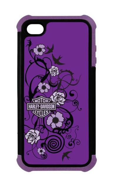 Harley-Davidson iPhone 5/5S Heavy Duty Shell, Floral B&S Design, Purple 07458 - Wisconsin Harley-Davidson
