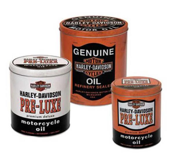 Harley-Davidson Genuine Oil Can Storage Tin Set Of Three HDL-19201 - Wisconsin Harley-Davidson