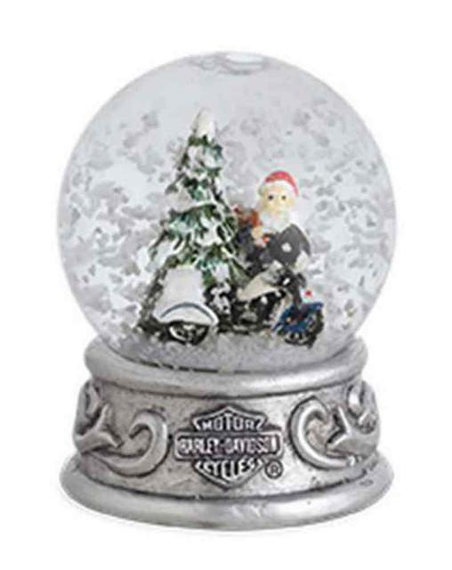 Harley-Davidson 2015 Biker Santa with Trademark B&S Mini Snow Globe. 96817-16V - Wisconsin Harley-Davidson