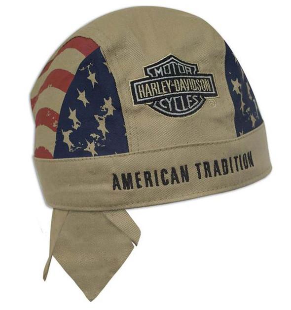 Harley-Davidson American Tradition Khaki Head Wrap H417604 - Wisconsin Harley-Davidson