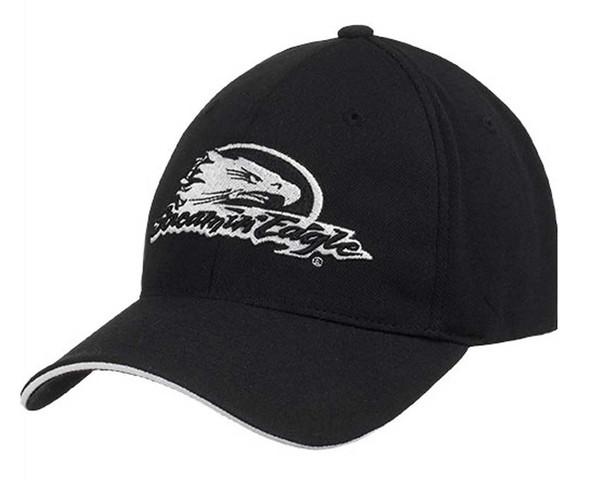 Harley-Davidson Men's Screamin' Eagle Stretch Fit Baseball Cap Black HARLMH0264 - Wisconsin Harley-Davidson