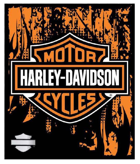 Harley-Davidson 50 x 60 Bar & Shield Road Rage Fleece Blanket NW634770 - Wisconsin Harley-Davidson