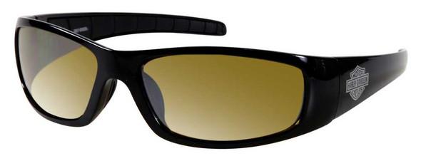 Harley-Davidson Men's Lifestyle Shiny Black,Yellow Lens Sunglasses HDS602BLK-15F - Wisconsin Harley-Davidson