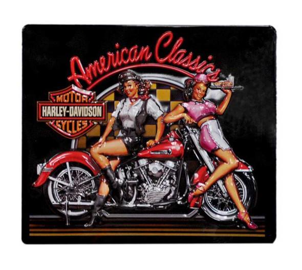 Harley-Davidson American Classics Babes Tin Sign 15 x 13 Inch Black 2010561 - Wisconsin Harley-Davidson