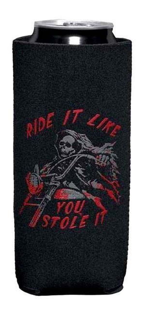 Harley-Davidson Reaper Tall Boy Can Cooler Flat Kozy, Black/Red. 96901-16V - Wisconsin Harley-Davidson