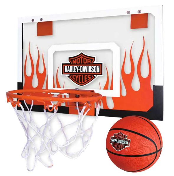 Harley-Davidson Mini Basketball & Hoop Set, Easy Assembly & Mounting 66376 - Wisconsin Harley-Davidson