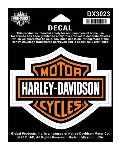 Harley-Davidson Bar & Shield Medium Decal, 3-15/16'' W x 3-1/8'' H DX3023 - Wisconsin Harley-Davidson