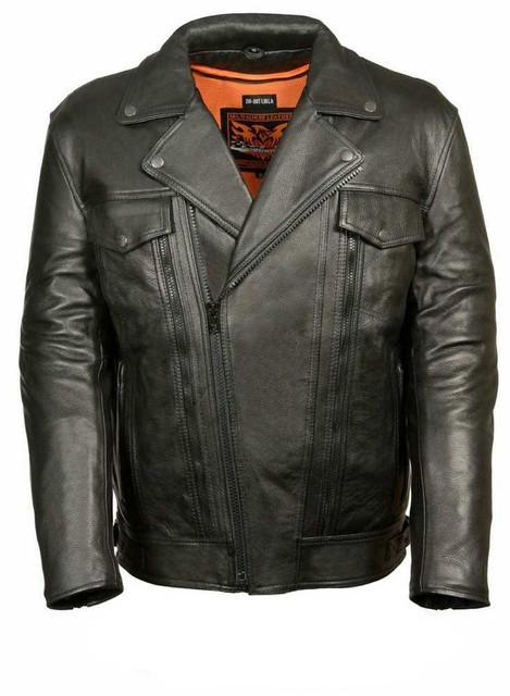 Milwaukee Leather Men's Utility Pocket M/C Jacket ML1018 - Wisconsin Harley-Davidson