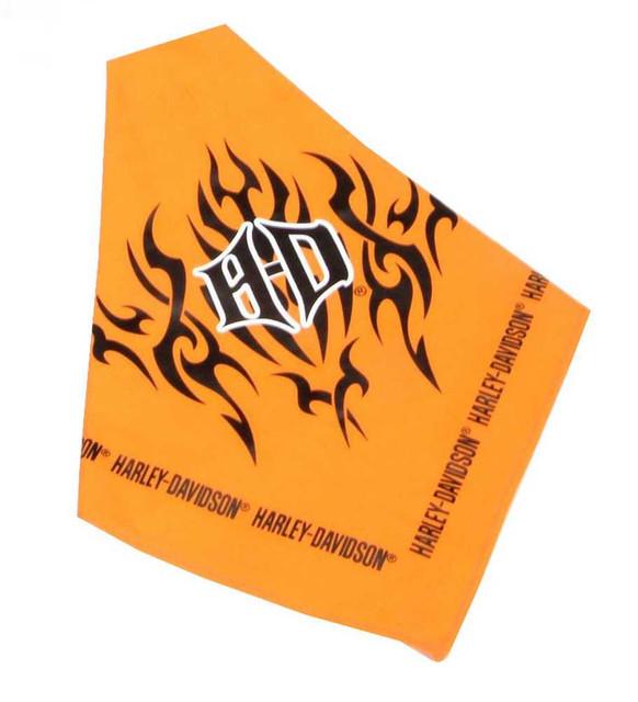 Harley-Davidson H-D Tribal Flames Pet Tie Bandana 30'' Orange H2300-H-OR230 - Wisconsin Harley-Davidson
