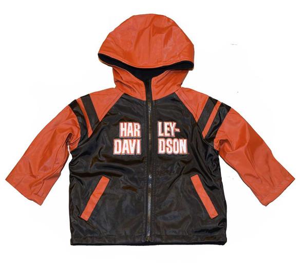 Harley-Davidson Big Boys' Windbreaker Jacket, Teen Reversible Coat Black 4296068 - Wisconsin Harley-Davidson
