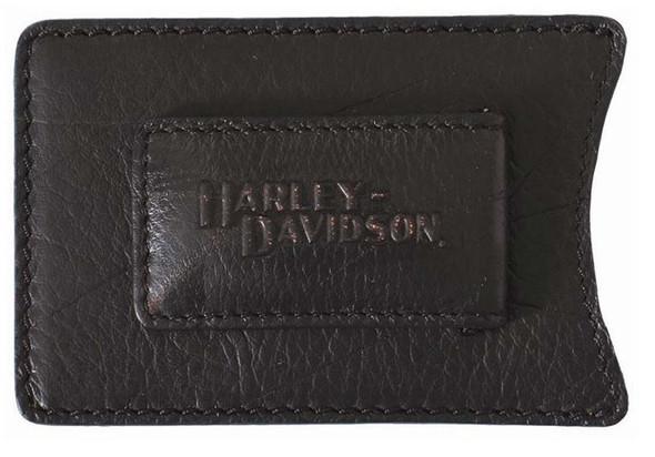 Harley-Davidson Men's Magnetic Front Pocket Wallet Money Clip VM2045L-Black - Wisconsin Harley-Davidson