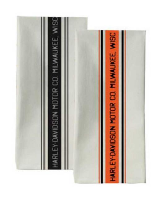 Harley-Davidson Bar Towel Set - 2 Towels HDL-18529 - Wisconsin Harley-Davidson