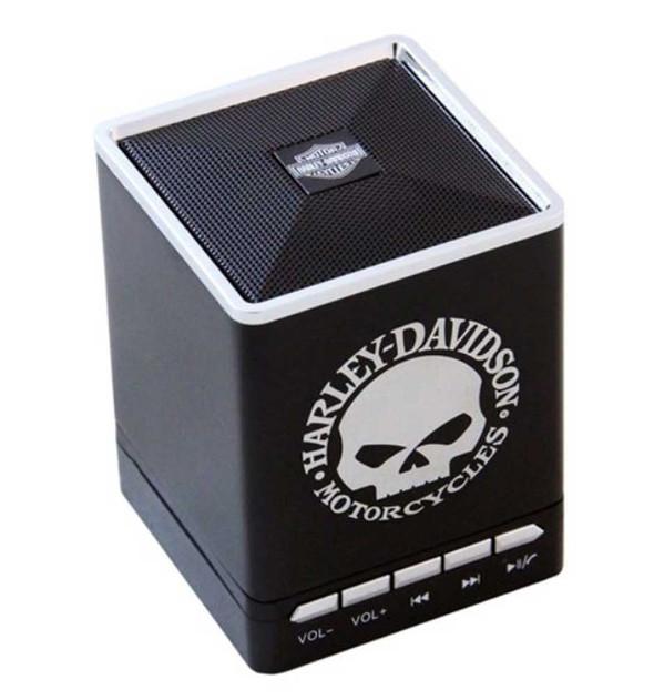 Harley-Davidson Willie G. Skull Portable Bluetooth Speakers w/ Speakerphone 6869 - Wisconsin Harley-Davidson
