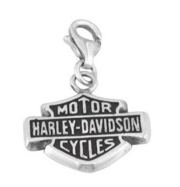 Harley-Davidson Bar & Shield Sterling Silver Charm HDC0005 - Wisconsin Harley-Davidson