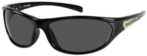 Harley-Davidson Men's Sun Lifestyle Oval Black,Grey Lens Sunglasses HDS604BLK-3 - Wisconsin Harley-Davidson