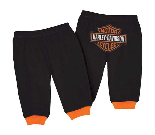 Harley-Davidson Baby Boys' Interlock Bar & Shield Logo Pants, Black 4050601 - Wisconsin Harley-Davidson