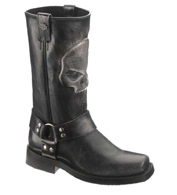 Harley-Davidson Men's Quentin 12-Inch Classic Black Motorcycle Boots. D93215 - Wisconsin Harley-Davidson