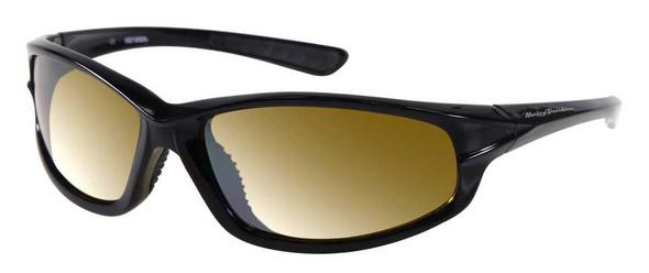 Harley-Davidson Men's Lifestyle Shiny Black,Yellow Lens Sunglasses HDS601BLK-15F - Wisconsin Harley-Davidson