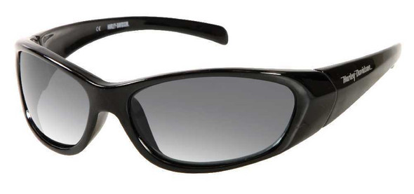Harley-Davidson Men's Sun Kickstart Sunglasses BLK Frame/Gray Lens HDV015BLK-3 - Wisconsin Harley-Davidson