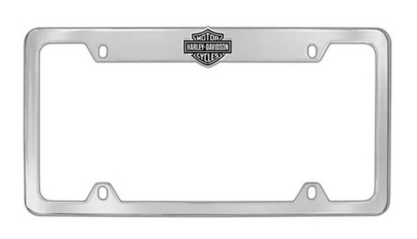 Harley-Davidson Bar & Shield License Plate Frame Chrome HDLFE14-U - Wisconsin Harley-Davidson