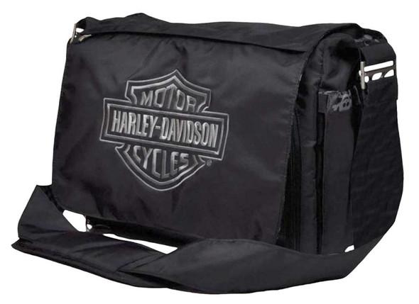 Harley-Davidson Baby Boy's Embroidered Bar & Shield Diaper Bag, Black 0270306 - Wisconsin Harley-Davidson