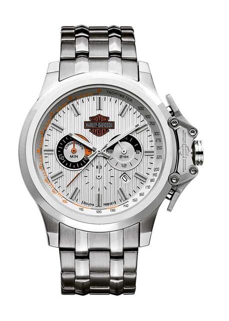 Harley-Davidson Men's Bulova Chronograph Wrist Watch 76B151 - Wisconsin Harley-Davidson
