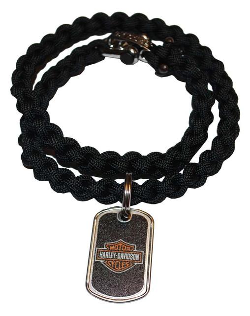 Harley-Davidson Survival Bar & Shield Necklace Steel Clasp 21'' 201106585 - Wisconsin Harley-Davidson