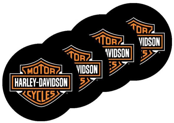 Harley-Davidson Bar & Shield Neoprene Coasters - Set of 4 CS30230 - Wisconsin Harley-Davidson