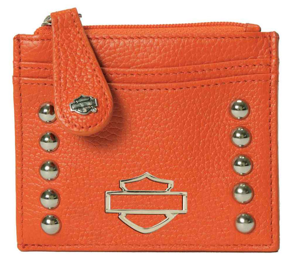 Harley-Davidson Womens Orange Leather Rider Derby Wallet RD6288L-Orange - Wisconsin Harley-Davidson