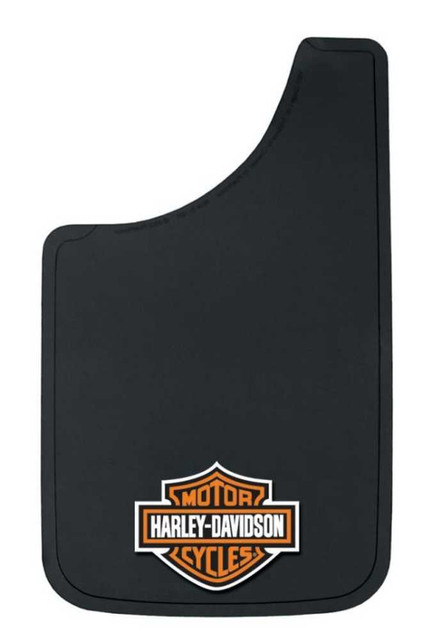 Harley-Davidson Orange Bar & Shield Logo Easy Fit Mud Guard Black P524 - Wisconsin Harley-Davidson