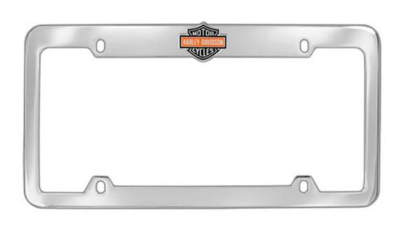 Harley-Davidson Orange Bar & Shield License Plate Frame Chrome HDLFE15-U - Wisconsin Harley-Davidson