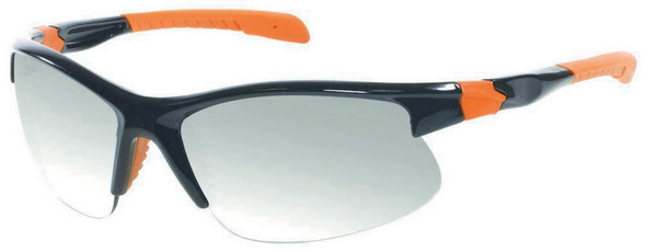 Harley-Davidson Mens Shiny Black/Orange w/ Metallic Lens Sunglasses HDS618BLK-3F - Wisconsin Harley-Davidson