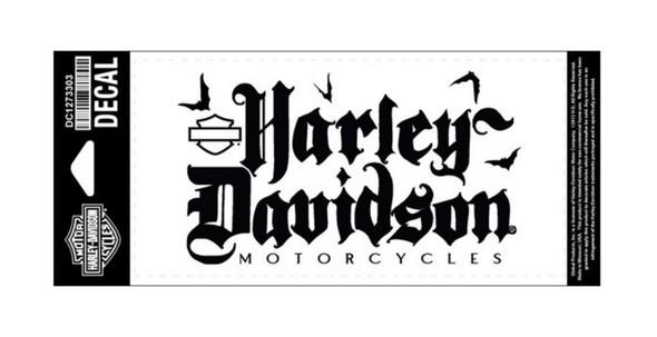 Harley-Davidson Black Letter Decal, Medium Size, Black DC1273303 - Wisconsin Harley-Davidson