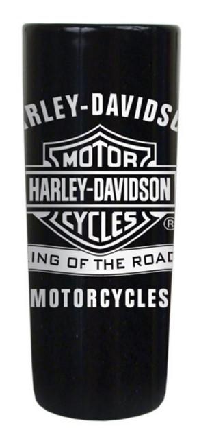 Harley-Davidson Shot Glass, King Of The Road, 2.5 oz. Tall Black SG120330 - Wisconsin Harley-Davidson