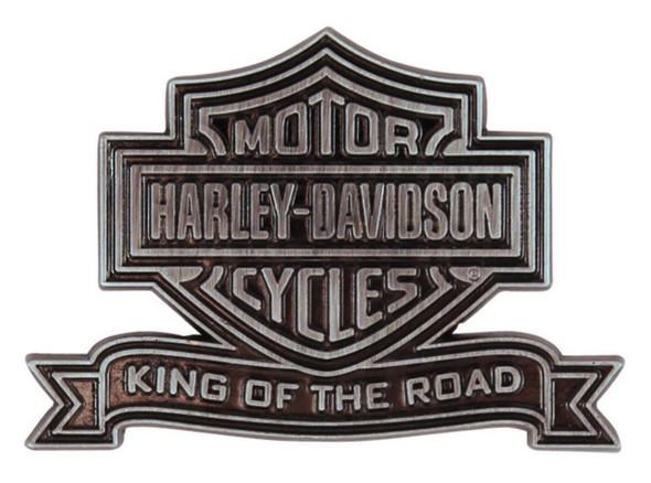 Harley-Davidson King Of The Road Bar & Shield Pin, Antique Nickel P1203065 - Wisconsin Harley-Davidson