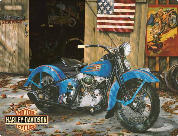 Harley-Davidson At Your Service Tin Metal Sign 13 x 17 Inches  2010541 - Wisconsin Harley-Davidson
