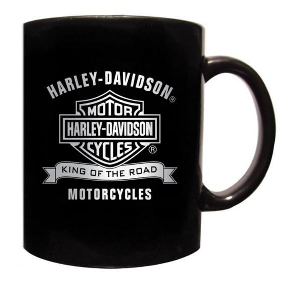 Harley-Davidson Coffee Mug, King Of The Road Bar & Shield, Black CM120330 - Wisconsin Harley-Davidson