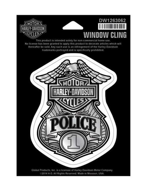 Harley-Davidson Police Original Window Cling - Small 4.25'' x 6'' DW1263062 - Wisconsin Harley-Davidson