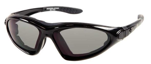 Harley-Davidson Mens Shiny Black Sporty Performance Sunglasses HDS805BLK-3 - Wisconsin Harley-Davidson