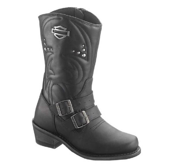 Harley-Davidson Women's Kayla Black Boots. 10-Inch Shaft, 2-Inch Heels D87021 - Wisconsin Harley-Davidson