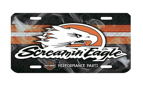Harley-Davidson Screamin' Eagle Smoke License Plate HARLNV007500 - Wisconsin Harley-Davidson