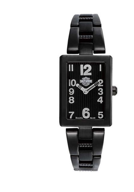 Harley-Davidson  Women's Bulova Bar & Shield Wrist Watch 78L109 - Wisconsin Harley-Davidson
